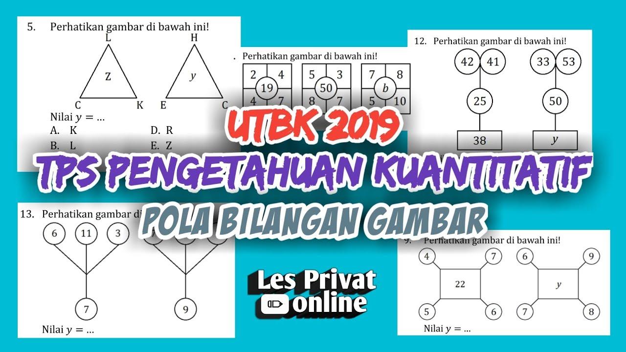 Utbk2019 Bahas Soal Utbk 2019 Tps Part 2 Pengetahuan Kuantitatif Pola Bilangan Dalam Gambar Youtube