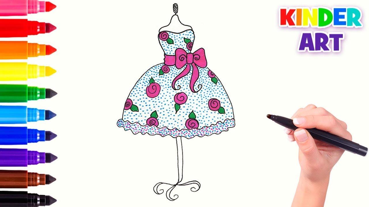 1bb08392e08 Как нарисовать красивое пышное платье
