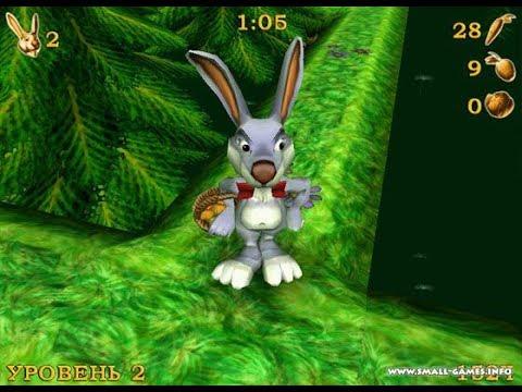Gameplay Rosso Rabbit in trouble Part 1 / Прохождение игры Побег из крольчатника Часть 1