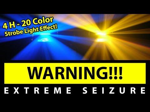 BEST 20 Color Strobe Light Effect!!! [4H EXTREME SEIZURE WARNING] 1080P60