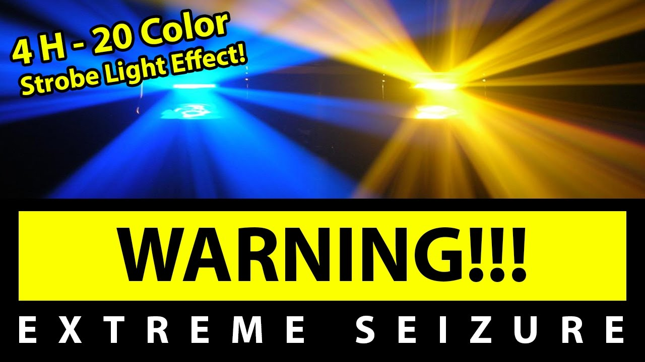 BEST 20 Color Strobe Light Effect!!! [4H EXTREME SEIZURE WARNING ...