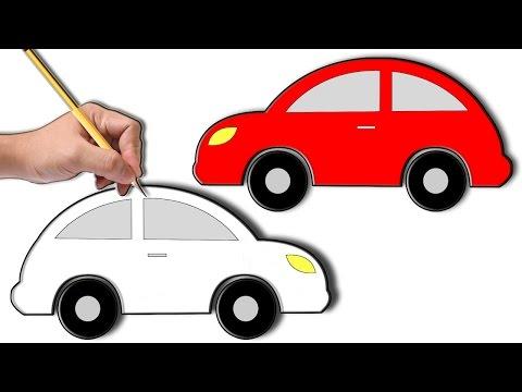 تعلم طريقة رسم سيارة Youtube