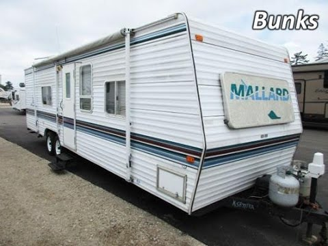 HaylettRV com - 1999 Mallard 29RS Used Bunkhouse Travel Trailer by  Fleetwood RV