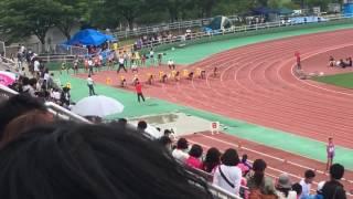 2017福岡県中学選手権〈中3男100m準決勝1組〉 石井慶 検索動画 14