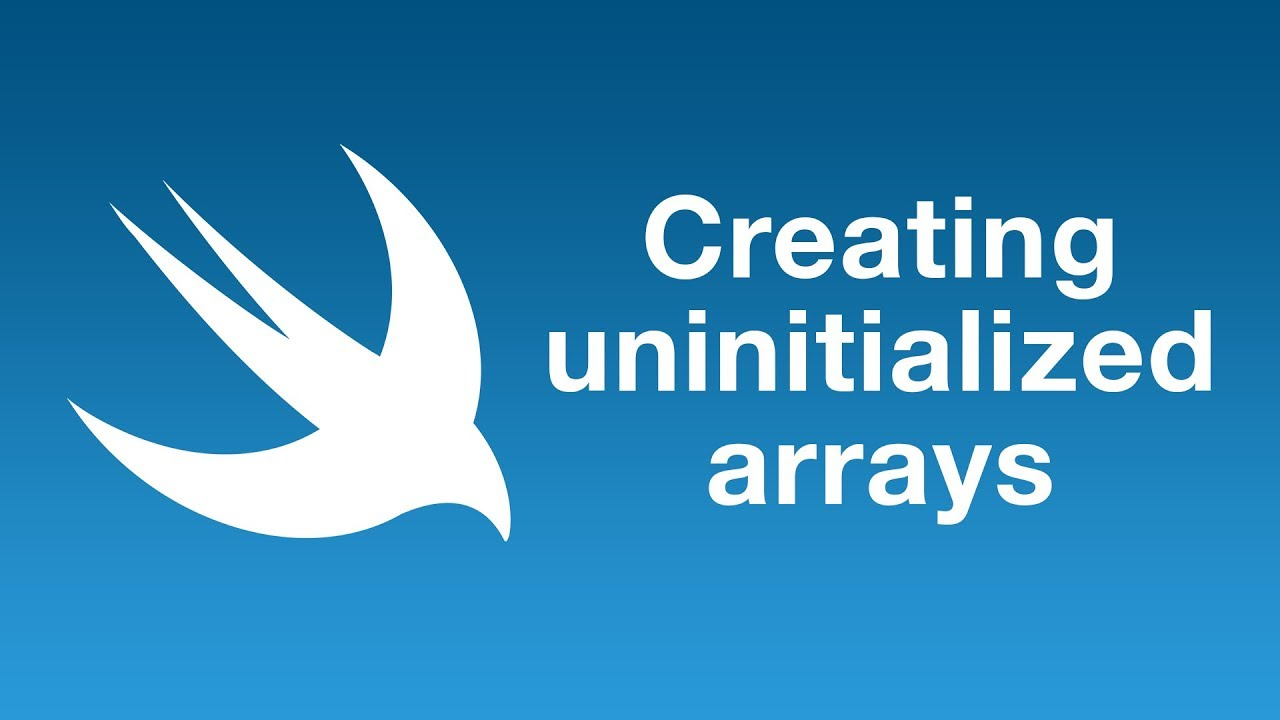 Creating uninitialized arrays in Swift 5.1