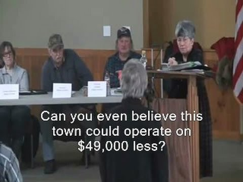 Town tyrant implies small budget cut would shut down government - Grafton, NH