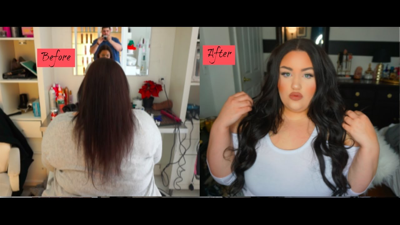 Before after partial sew in hair extensions ft unicehair youtube before after partial sew in hair extensions ft unicehair pmusecretfo Images