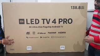 """Un-boxing MI LED Smart TV 4 PRO 138.8cm (55) 55""""inches"""