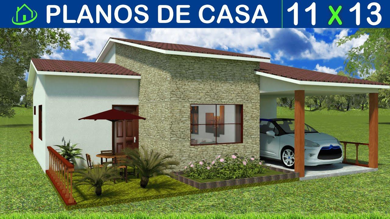 Planos Casa Con 3 Dormitorios 2 baños Sala/Comedor Parqueo 1 carro cocina Grande Lavandería 11x13MTS