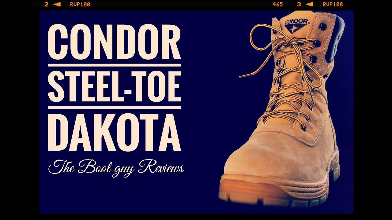 Condor Dakota Mens 8 Steel Toe Work Boot