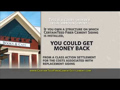 Certainteed Fiber Cement Siding Class Action Settlement