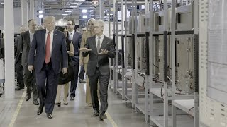President Trump and Tim Cook Tour an Apple Facility in Austin, Texas