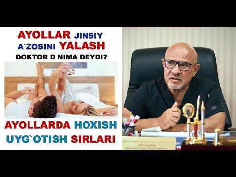 #139 AYOLLAR JINSIY A'ZOSINI YALASH.  AYOLLARDA HOXISH UYG'OTISH SIRLARI
