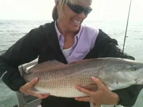 Redfish fishing videos sexy women fishing youtube for Fishing report near me