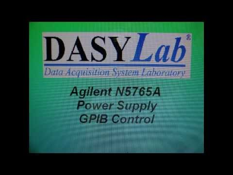 DasyLab National Instruments Agilent Power Supply GPIB Software Control Demo