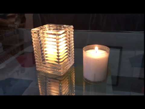 Chunky Clear Glass Filled With 24 Hour Refill Candle
