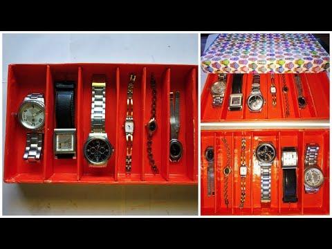 Diy How To Make Wrist Watch Storage Box From Waste