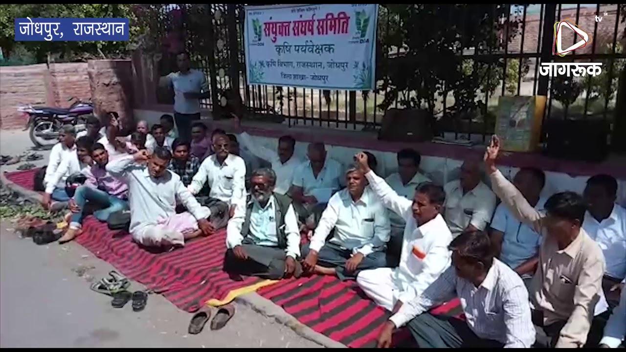 जोधपुर : कृषि पर्यवेक्षकों का धरना