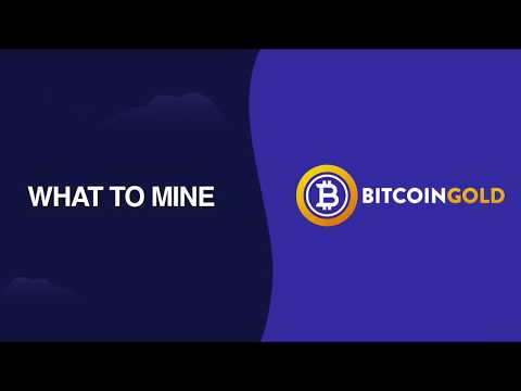 Bitcoin Gold Tutorial   How To Use What To Mine