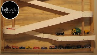 Toy car track in action !