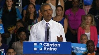 Obama: Trump only offers anger and blame