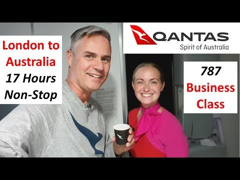London To Perth - Qantas' Longest Flight In Business Class