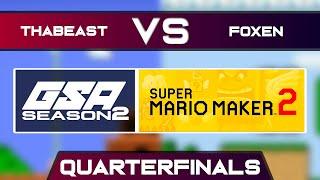 Thabeast721 vs Foxen | Playoffs Quarterfinals | GSA SMM2 Endless Mode Speedrun League Season 2
