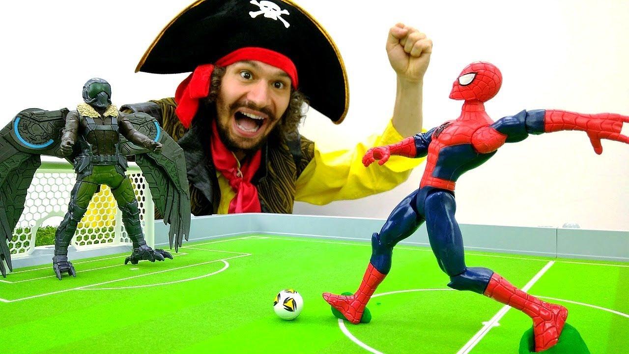 Супергерои и Пираты - Человек Паук и Стервятника играют в ...