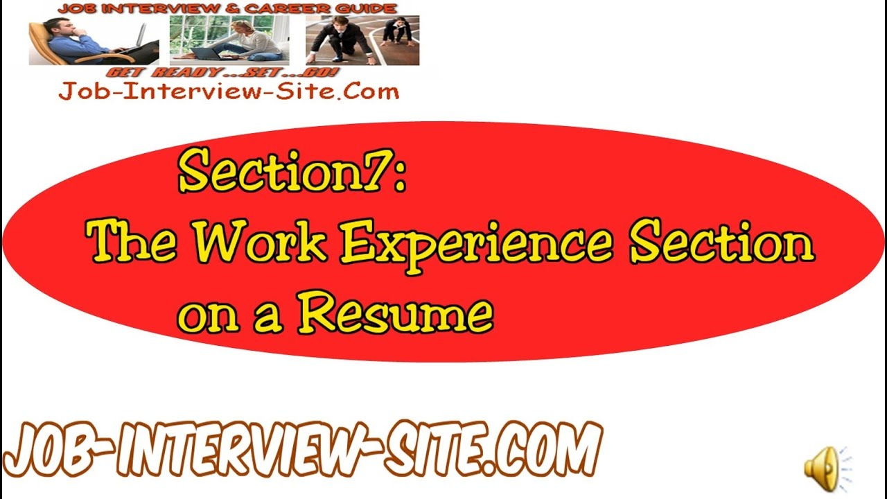 resume work experience writing effective work experience on your resume