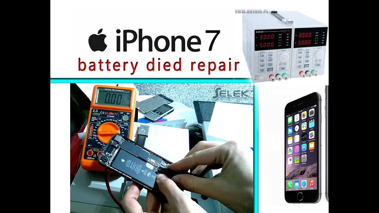 the latest 583fe 31a34 iPhone 7 Phone won't turn on - Battery Died Repair Tutorial / Batería rota  en el teléfono