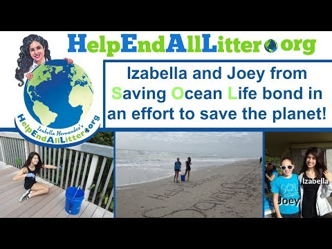 Izabella and Joey from Saving Ocean Life bond over saving the planet.