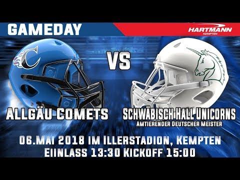Allgäu Comets vs. Schwäbisch Hall Unicorns