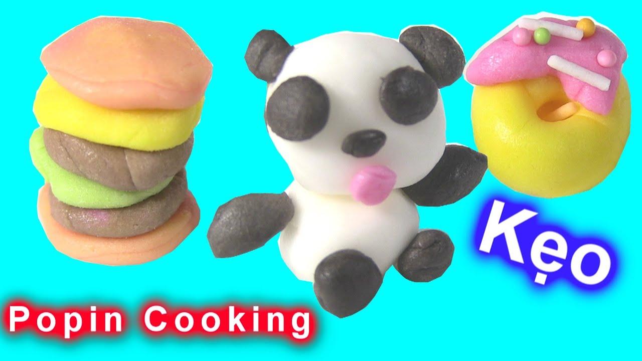 """Làm Kẹo Bằng Đồ Chơi Nhật """"POPIN COOKIN"""" – Kẹo Gấu Trúc, Hamburger, Bánh Mỳ Donut Popin Cookin"""