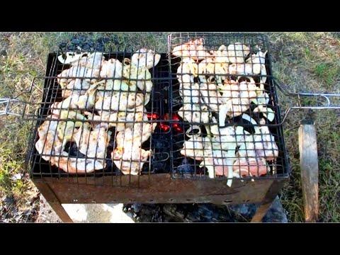 Шашлык из курицы на минералке видео рецепт