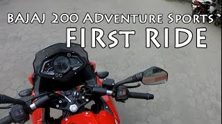 bajaj pulsar 200 as    first ride    grease monkey vlog 4