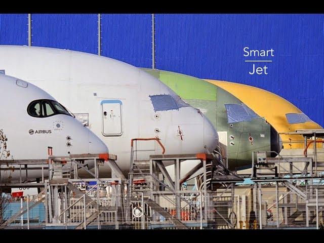 Construction d'un avion moderne Airbus