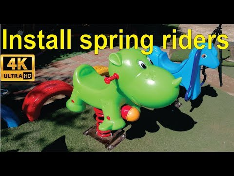 How To Install A Spring Rider Outdoor Play Equipment.