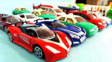 토미카 같은 아이카 미니자동차 장난감 동영상 Similar To Tomica MiniCar Toys AiCAR UnBoxing Racing Sports Car