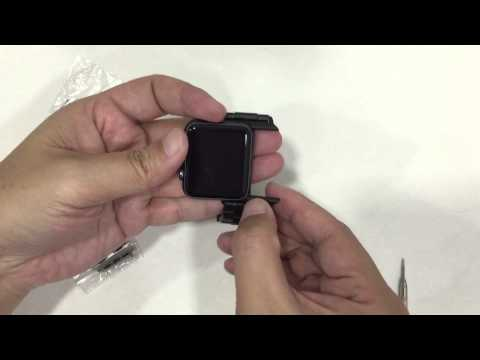 Apple Watch 3rd Party Black and Silver Lug and Pin style Adapters Review/Unboxing/Tutorial