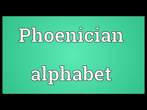 Phoenician alphabet Meaning