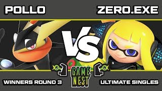 Game Nest Smash It Up: Pollo (Greninja/Lucina) vs Zero.exe (Inkling/Roy/Lucina) - Winners Round 3