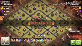 Best troops combination for th10 with proof(replay)... See this if you want pushing