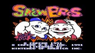 Игры на Денди : Snow Bros - прохождение + байки про свитер и голых баб