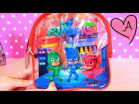 PJ Masks en español - Coloreamos Heroes en pijamas | Muñecas y juguetes con Andre para niñas y niños