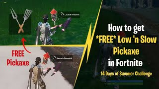 How to get *FREE* Low 'n Slow Pickaxe in Fortnite | Launch Fireworks found along the river bank