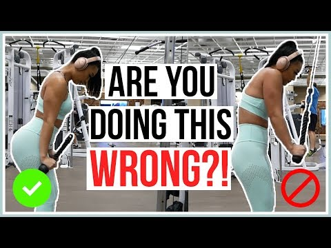 HOW TO DO A TRICEP PUSHDOWN | Beginner's Guide