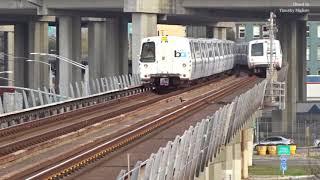 BART Train in San Francisco 2018 - Regional Subway Network