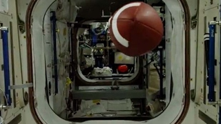 Football Pass 'Travels' 564,664 Yards On Space Station | Video