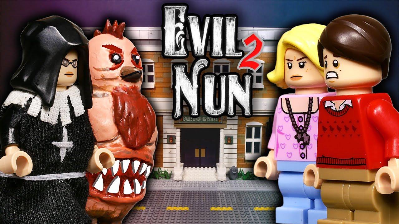 LEGO Мультфильм Evil Nun 2 - ФИНАЛ / LEGO Stop Motion, Animation