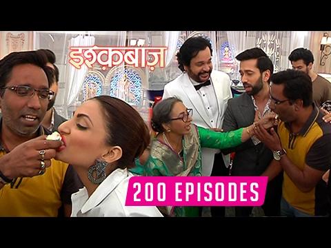 Ishqbaaz 200 Episodes Celebration   Cake Cutting   Shivaay   Anika   Tia
